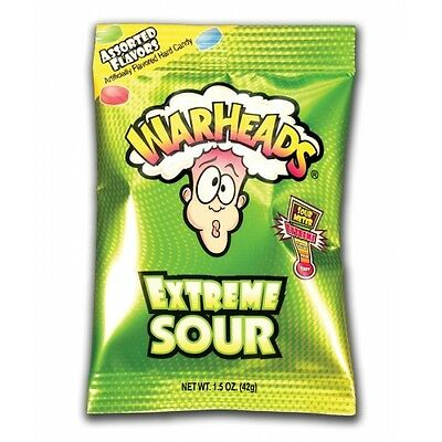 Warheads Extreme Sour Hard Sweets 28g Bag from Candy Junction
