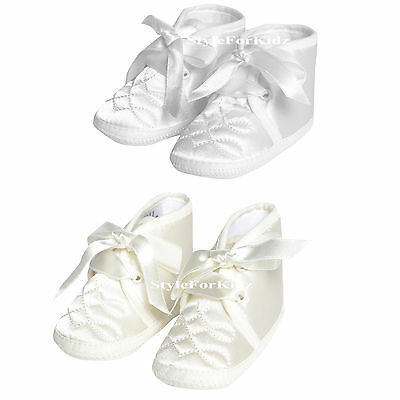 Baby Boys Christening Shoes White,ivory/cream Wedding Special Occasion Boots