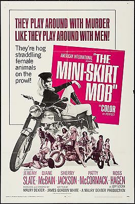 The Mini-Skirt Mob 1968 Original Movie Poster One Sheet 27x41 Motorcycle Triumph