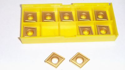 New 10Pcs Ccmt-432 Tin Coated  Carbide Inserts