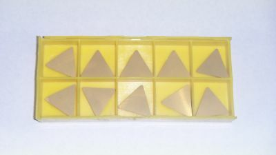 New 10Pcs Tpu-433 Tin Coated  Carbide Inserts