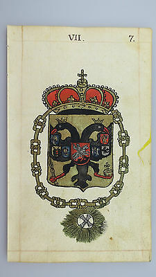 """18th. Century: A Wonderful original drawing Coat of Arms """"Imperial Russia""""!"""