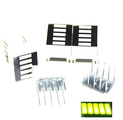 10pcs LED Bar Display Segments 5LED Bar Graph Yellow Green Light 5 Segment Bar T