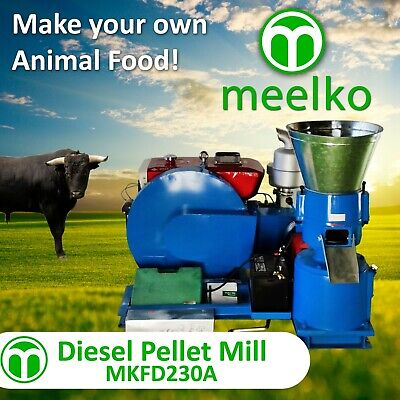 Pellet Mill 15Hp Diesel Engine Pellet In Stocked Usa (8Mm Livestock)