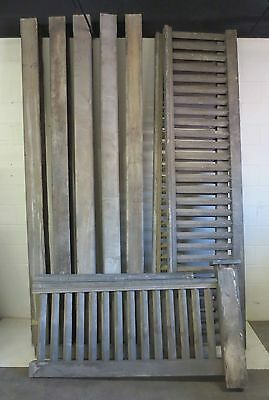 Antique Cypress Wood  Front Porch Railing, Hand Rail,Railing Banister Early 1900
