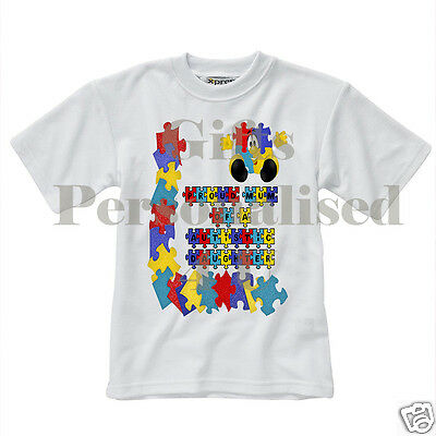 Personalised T-Shirt - Autism Awareness - Style 5 - Children Men Women sizes
