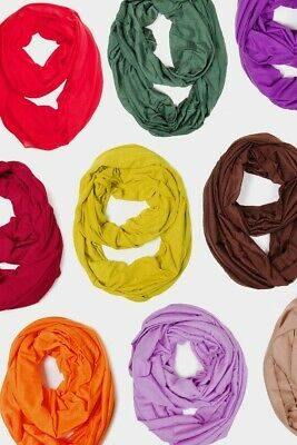 ScarvesMe Fashion Jersey Solid Color Soft Infinity Loop Scarf