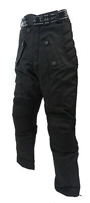 Speed 2 Kids Childrens Textile Motorcycle Motorbike Trousers Baby Biker Black T