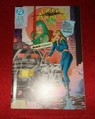 Mike Grell Signed Green Arrow # 7 August 1988 8/88 1988 Series Nm Black Canary