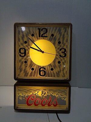 1985 Coors Back Lighted Wall Clock