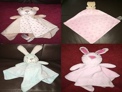 Matalan Soft Toy Baby Comforter Blankie Blanket Soother