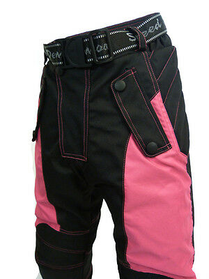 Speed 2 Kids Childrens Textile Motorcycle Motorbike Trousers Baby Biker Pink T