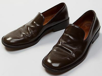 c205a3c48cd Men s GUCCI Brown Leather Formal Dress Loafers Shoes Size Sz EU41 EU 41 E