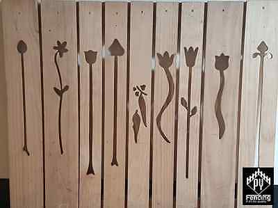 Picket Fence T/Pine, Flower Cut Outs 90 x 19mm x 900mm Picket Fencing