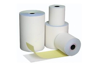 50 Rolls 76x76mm 2 Ply White/Yellow, Bond Paper, Cash Register, Receipt Rolls