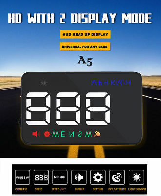 2017 Universal Gps Hud Digital Heads Up Display Car Speeding Warning Plug & Play