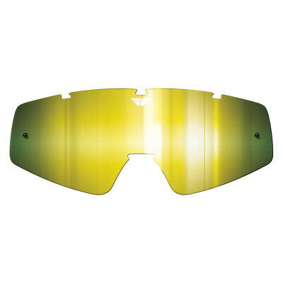 Fly NEW Youth Mx Focus Zone Gold Mirror Motocross Replacement Kids Goggles Lens