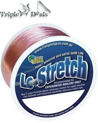 1 x 300 Metre Spool of Pink Platypus Lo-Stretch Fishing Line - IGFA Fishing Line