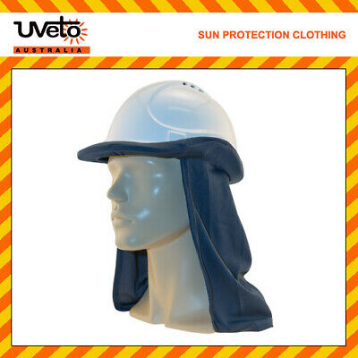 NAVY Hard Hat Flap Lightweight Micro Mesh Sun Protection Safety Headwear