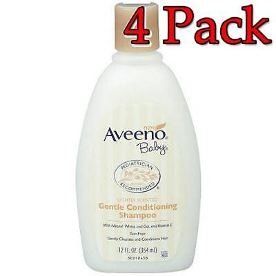 Aveeno Baby Gentle Conditioning Shampoo, 12oz, 4 Pack 381371151493A618