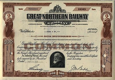 Great Northern Railway Stock Certificate Minnesota