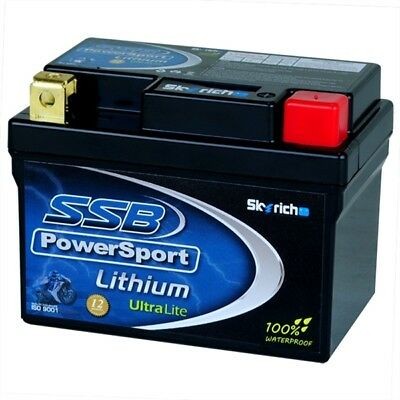 SSB Mx PowerSport Lithium Ultralite Motorbike 12 Volt Starter Motorcycle Battery