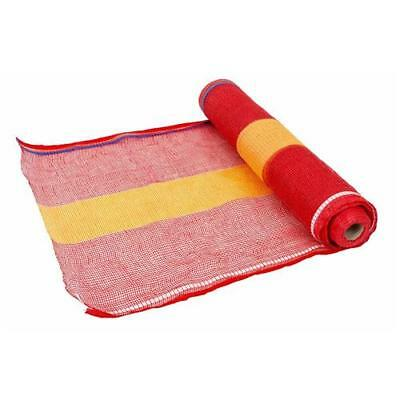 Barrier Mesh Red & Yellow UV Resistant Woven Poly Onion Bag | 50m Roll x 900mm