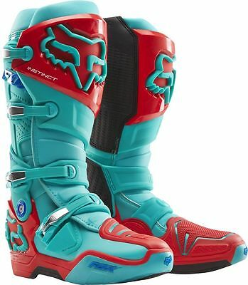 Fox Racing NEW 2016 Mx Instinct LE Ken Roczen Aqua Red Motocross Dirt Bike Boots