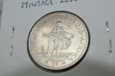South Africa 1955 PROOF Silver Shilling **Mintage only 2850**