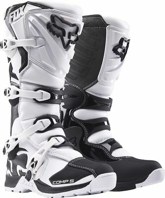 Fox Racing NEW 2017 Mx Comp 5 White Black Adult Enduro Motocross Dirt Bike Boots