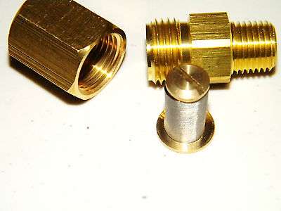 "Carpet Cleaning - 1/4"" Brass Inline Filter"