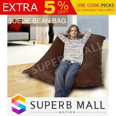 Bean Bag Large Huge Size 2-Seater 2 Person Micro Suede Furniture Chair Seat