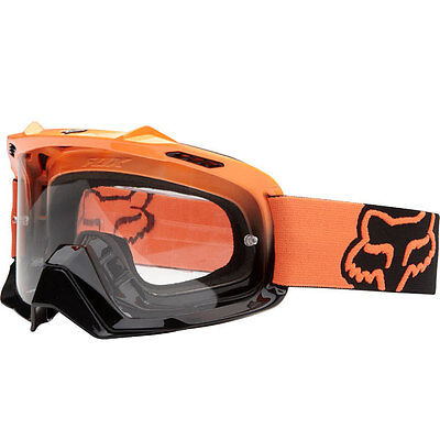 Fox Mx Gear AIRSPC Day Glo Orange Motocross Dirt Bike Moto Goggles