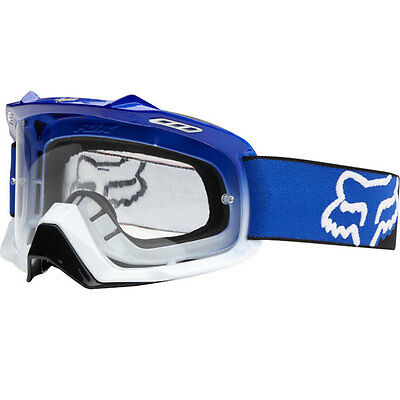 Fox Mx Gear 2015 AIRSPC Blue/White Fade Motocross Dirt Bike Moto Goggles