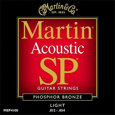 Martin MSP4100 SP Phosphor Bronze Light Acoustic Guitar Strings 12 - 54