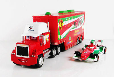 Disney Pixar Car Francesco Mack Racer's Truck&Francesco Bernoulli Car Set Toy
