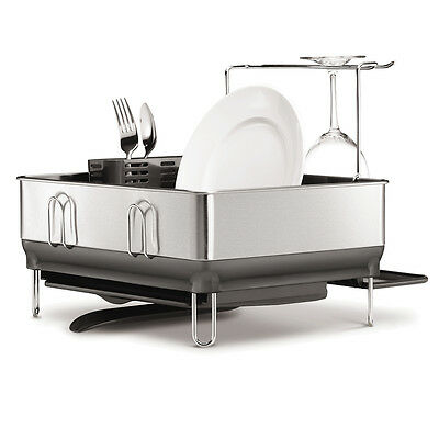 NEW Simplehuman Compact Stainless Steel Dish Rack