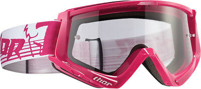 Thor NEW Ladies Mx Conquer Pink White Clear Motocross Dirt Bike Womens Goggles