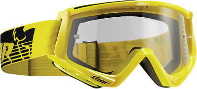 Thor NEW Mx Conquer Yellow Black Clear Lens Motocross Dirt Bike Goggles