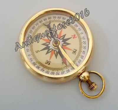 """Antique Collectible Vintage Maritime in old style Brass Directional Compass 2"""".."""