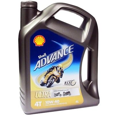 Shell NEW Mx 4L Advance 4T Ultra 10W40 Motocross Fully Synthetic Motorcycle Oil