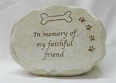 Dog Pet Memorial Tribute Plaque  - Bone With Paw Prints PP449