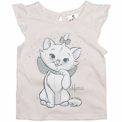 Girls Disney Collection Aristocats T Shirt Featuring Marie Bnwt Size 0, 1, 2