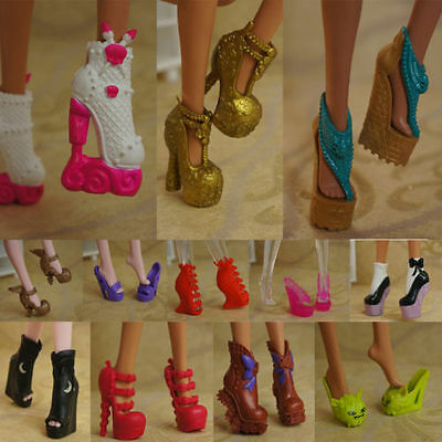 2016hotsell quality Original 5 pairs shoes for The monster high Doll Party a3000