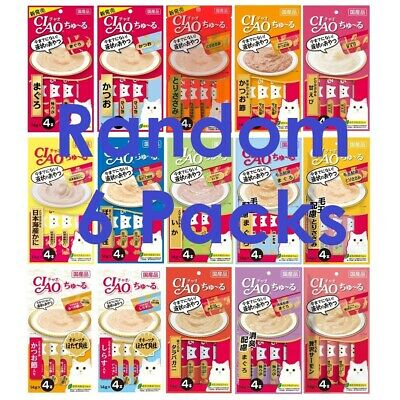 CIAO Churu Cat Lick Snacks Fillet 6 type Flavor / Total 6pack(24pcs) / Cat Food