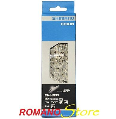 Catena Chain Shimano 10 Speed Hg95 Deore Xt 116L