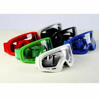 RS MX1 Motorcross Goggles White Black Red Blue Silver New Scooter