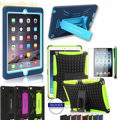 Hybrid Shockproof Heavy Duty Hard Stand Case Cover For iPad2 3 4 5 6 Mini & Air