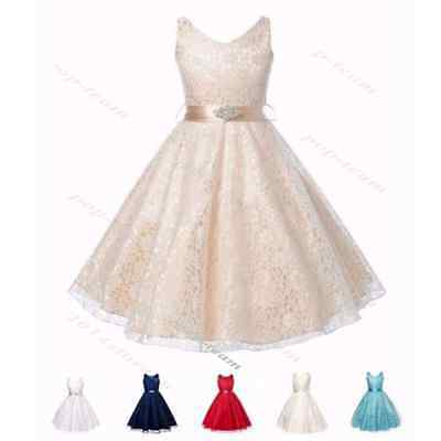 Flower Girl Wedding Dress Girls Dress Bridesmaid Pageant Princess Party Dresses
