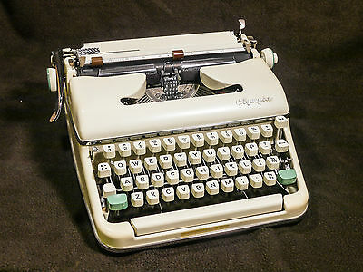 Stunning 1963 Olympia SM5 Portable Manual Typewriter